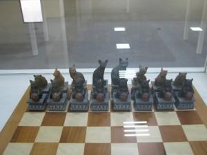 猫のチェスセット